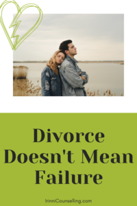 Divorce Doesn't Mean Failure. Image for Pinterest.