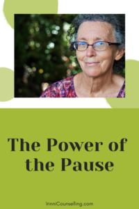 The power of the pause. Pinnable image.